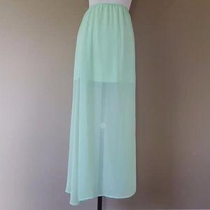 Sheer Green Skirt XS Lily White Side Kick